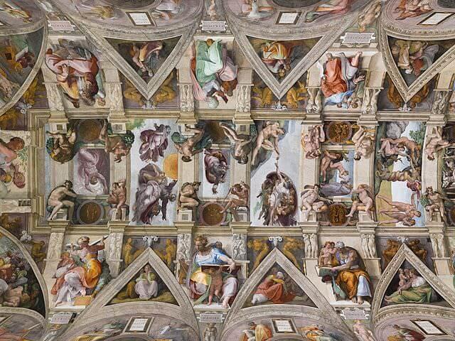 システィーナ礼拝堂の天井装飾