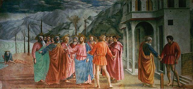 マザッチョ「貢の銭」1427年