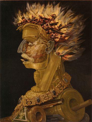 アルチンボルド「火」