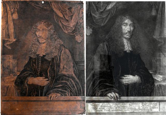 1600年代の作家Ambrosius Hannemannの銅板