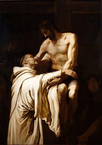 「聖ベルナルドゥスを抱擁するキリスト」