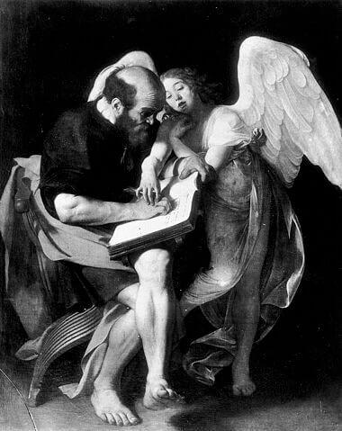 「聖マタイと天使」(1602年)